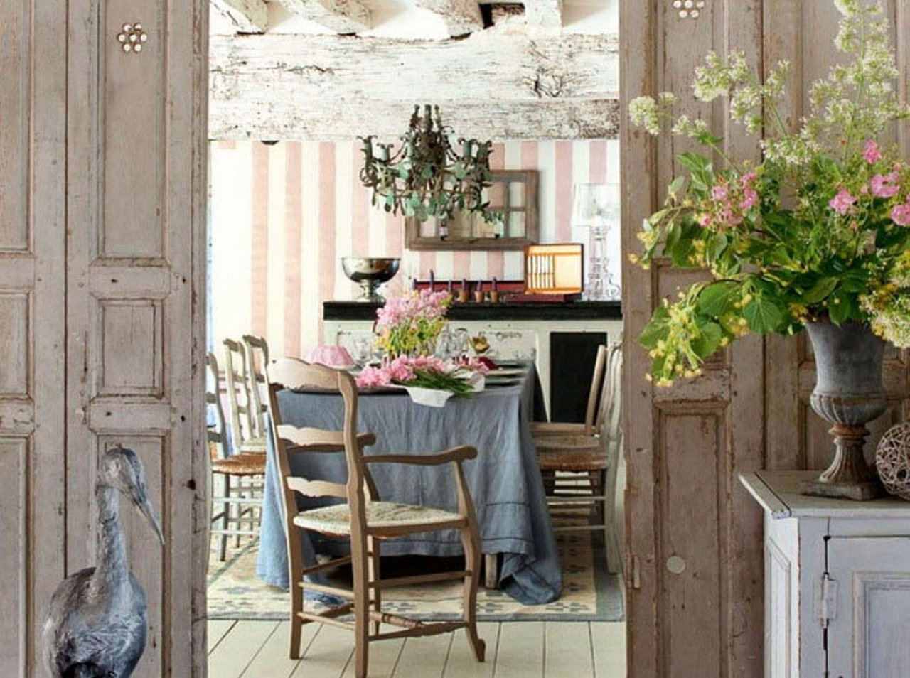 Rustic Chic Home Decor Kitchen Simple Shabby